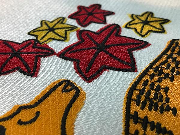 花札柄刺繍