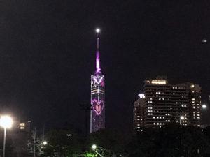 バレンタインデーの福岡タワー