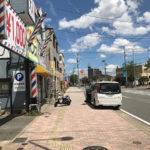 台風被害の看板の現地調査&道路使用許可申請。