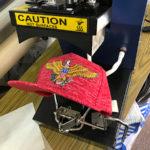 帽子用刺繍ワッペン製作。