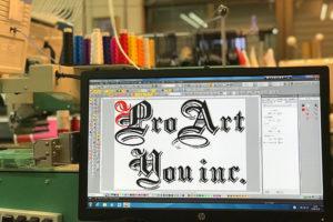 会社名刺繍