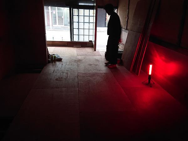 工場の床張り工事