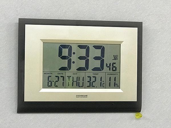 昇華転写部屋室温は32℃超