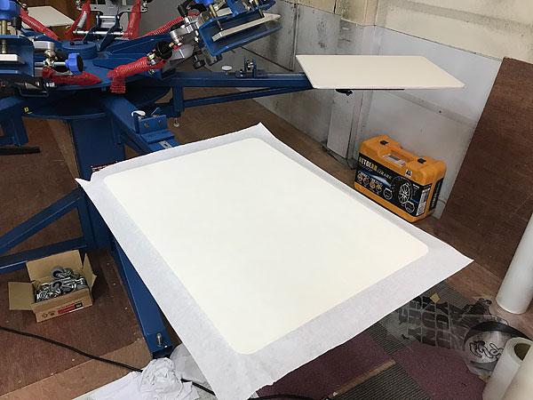 シルク印刷台清掃
