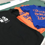 プリントTシャツは腕力勝負のお仕事なの。