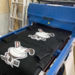 シルク印刷・転写などなど。Tシャツ製作方法駆使しました。