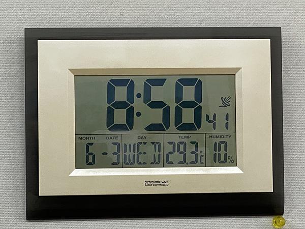 温度計付き時計