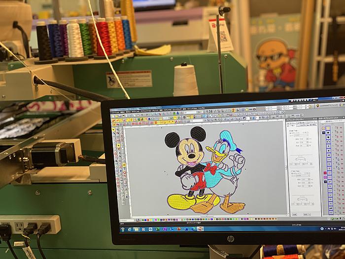 ミッキーマウス刺繍