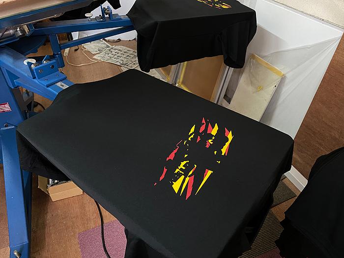 シルク印刷でTシャツプリント