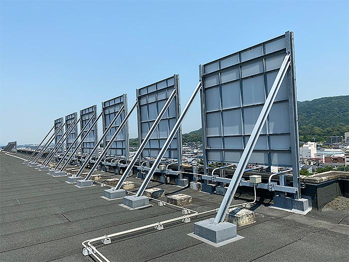 屋上看板設置工事