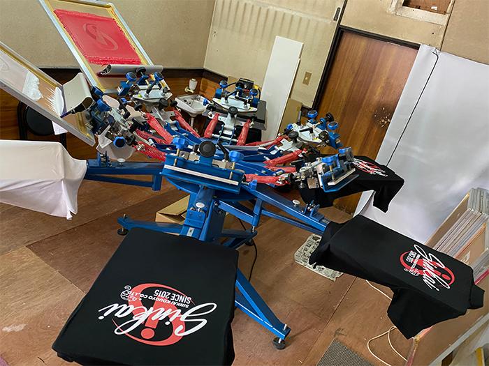 回転式印刷台